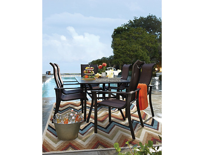 Rugby 7 piece Dining Set, , large