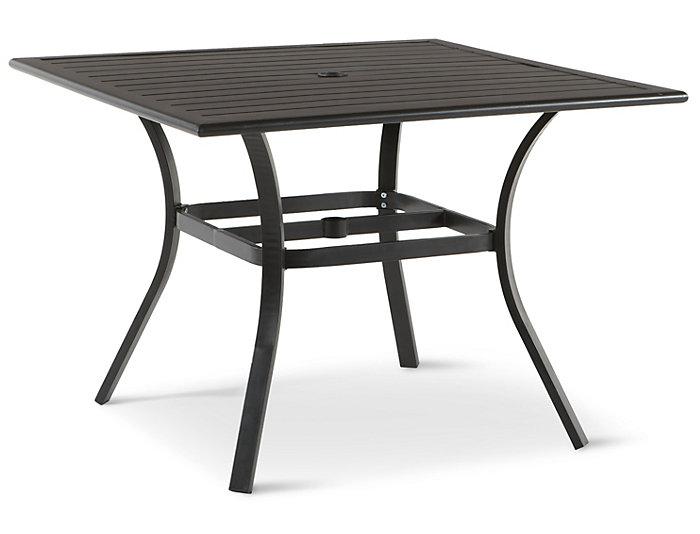 Rugby 40 square slat top table grey art van home rugby 40 square slat top table grey watchthetrailerfo