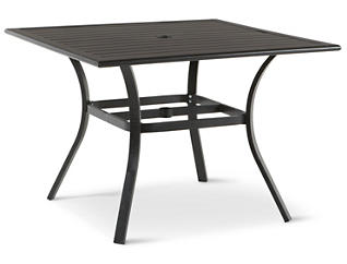 "Rugby 40"" Square Slat Top Table, Grey, , large"