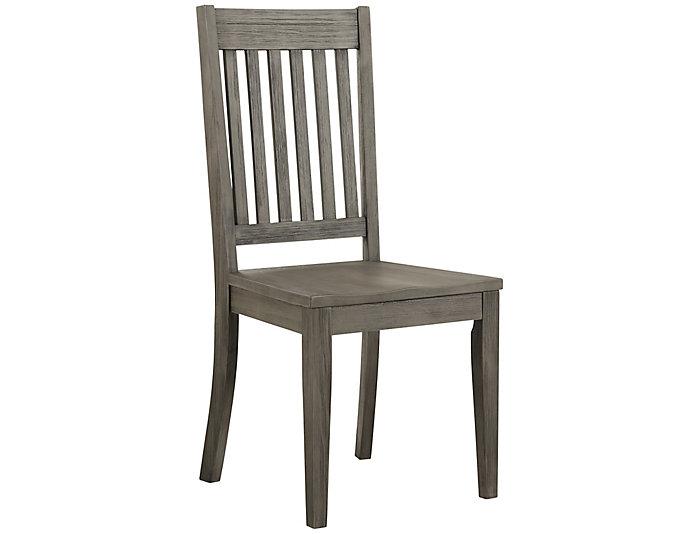 Huron Slat Back Chair - Grey, , large