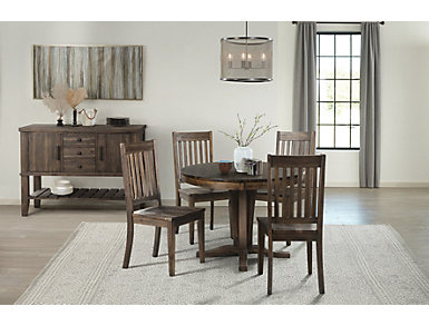 Huron Slat Back Chair - Russet, Brown, large