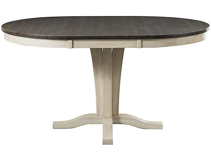 Huron Pedestal Table - Chalk, , large