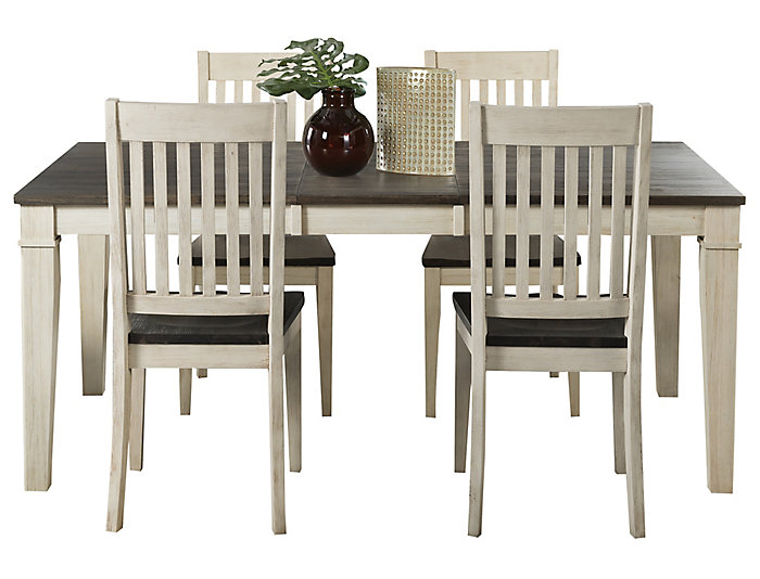 Huron Leg Tbl 5PC Set - Slat, , large