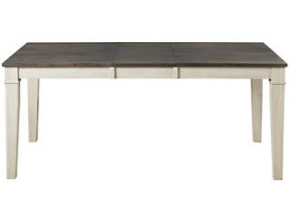 Huron Chalk Leg Table 5 Piece Set with Slat Back Chairs, , large