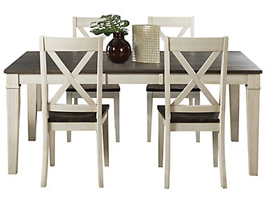 Huron Leg Table 5 Piece Set - X-Back, , large