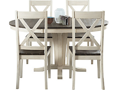 huron pedestal 5pc set x back - Kitchen Sets