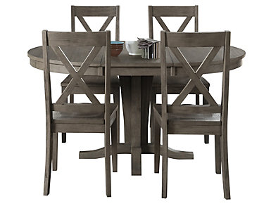 Huron Pedestal 5PC Set- X-Back, , large