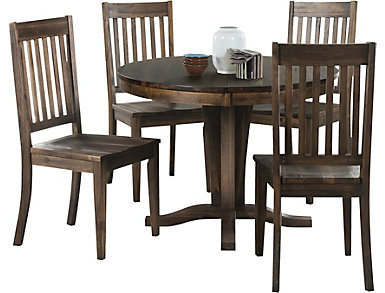 Huron Pedestal 5PC Set- Slat, , large