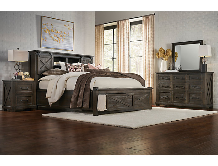 Sun Valley Charcoal Queen Storage Bed Art Van Home