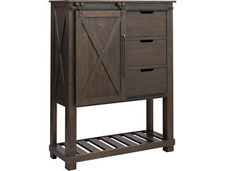 Sun Valley Charcoal Large Barn Door Chest, , large