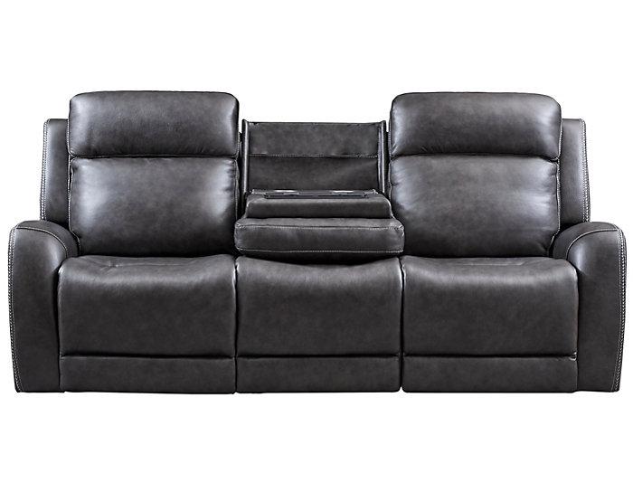 Fine Itron Steel Grey Power Leather Reclining Sofa Bralicious Painted Fabric Chair Ideas Braliciousco