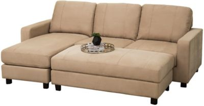 Luno Sectional & Ottoman, Beige, swatch