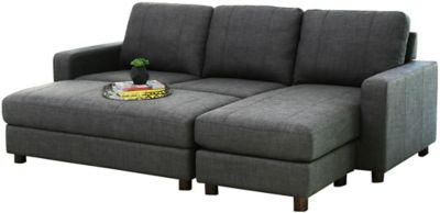 Luno Sectional & Ottoman, Grey, swatch
