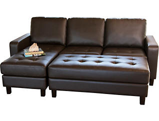 Rin Brown Sectional & Ottoman, , large