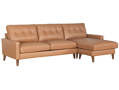 Brio Camel Leather Sectional, , large