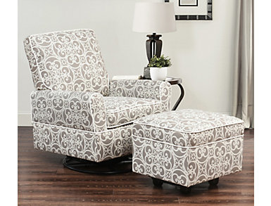 Chase Print Glider Chair Set, , large