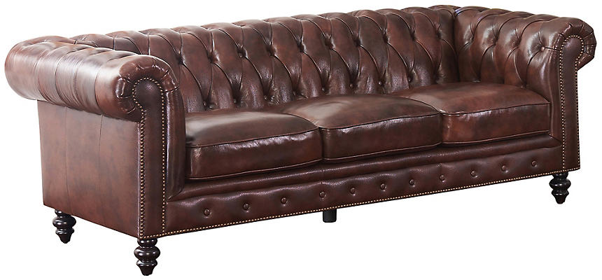 Luca Leather Chesterfield Sofa