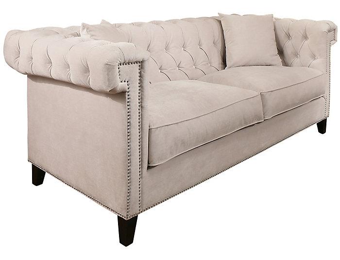 Bianca Ivory Tufted Sofa Large