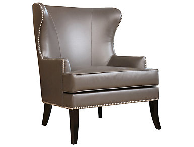 Charles Wingback Chair, Grey, , large