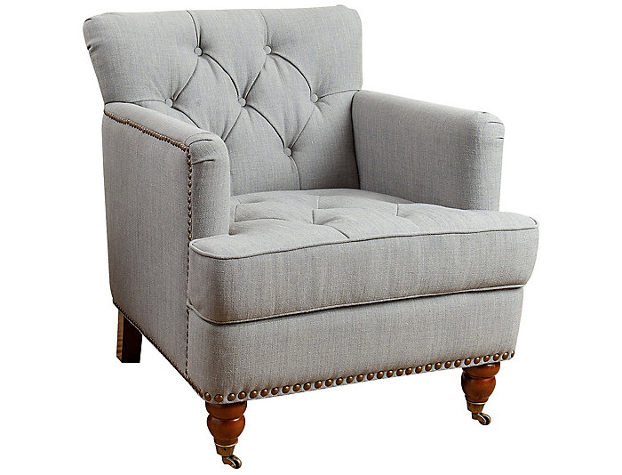 Superieur Tafton Tufted Club Chair, Grey, , Large ...