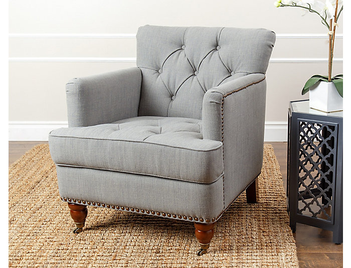 ... Tafton Tufted Club Chair, Grey, , Large ...