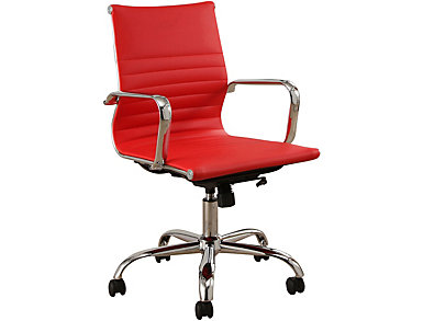York Red & Silver Desk Chair, , large