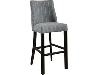 Ralph Grey Stripe Bar Stool, , large