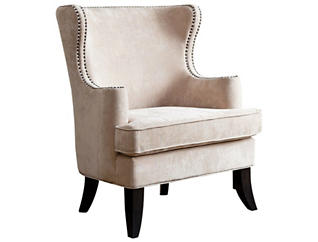 Lauren Wingback Chair, Cream, , large