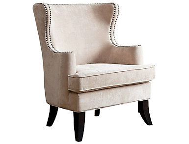 Lauren Wingback Chair, Cream, , large