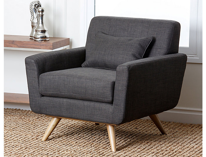 Bradley Tufted Chair, Grey, , large
