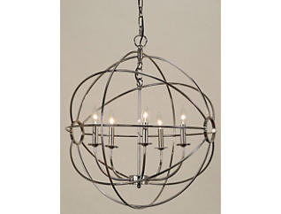 Chandler Chrome Orb Chandelier, , large