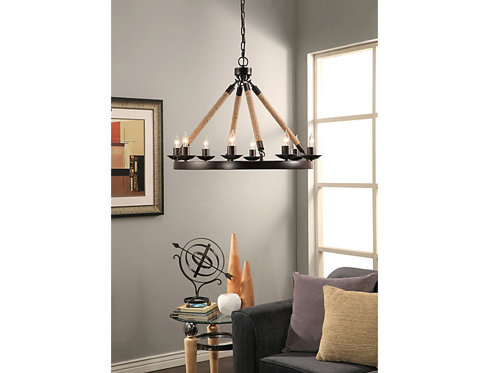 Grand 8 Light Round Chandelier, , large