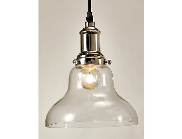 Hampton Clear Glass Pendant, , large