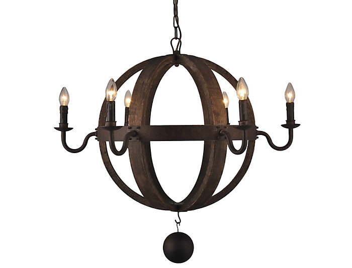 Clarence 6 Light Chandelier, , large