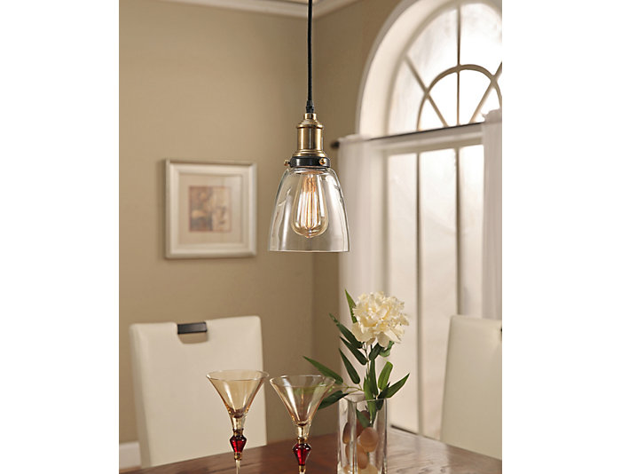 Edison  Bronze Single Pendant, , large