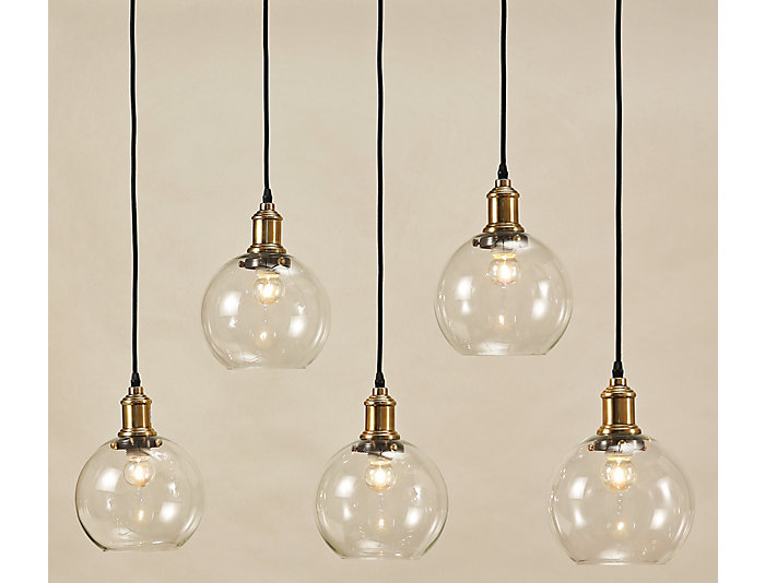 Edison Bronze 5 Light Pendant, , large