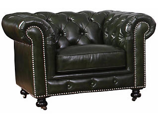 Pia Green Chesterfield Chair, , large