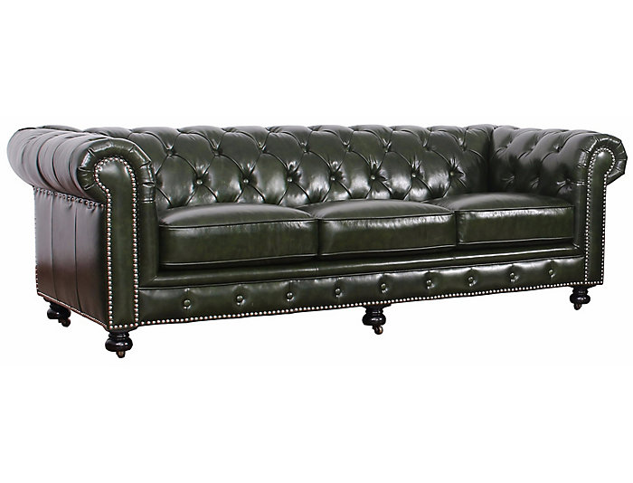 Pia Green Chesterfield Sofa, , large
