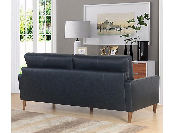 Brio Navy Leather Sofa | Art Van Home