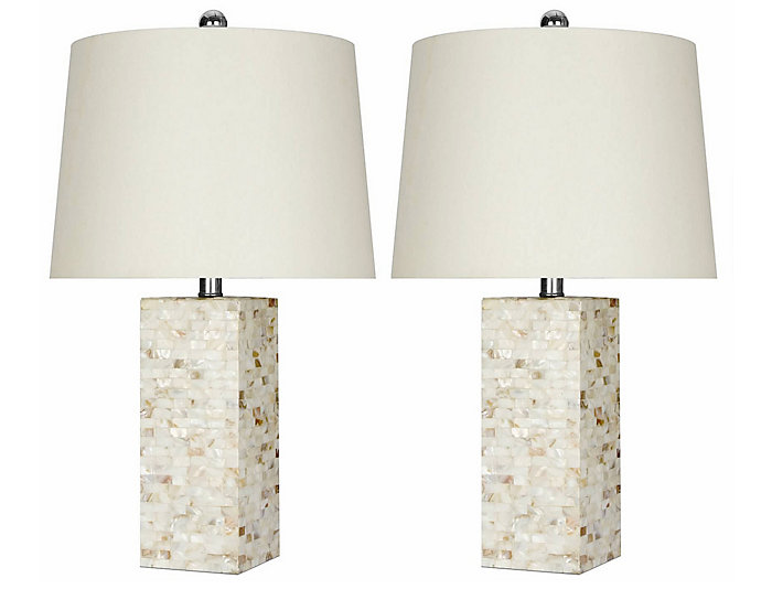 Square Table Lamp Set of 2, , large