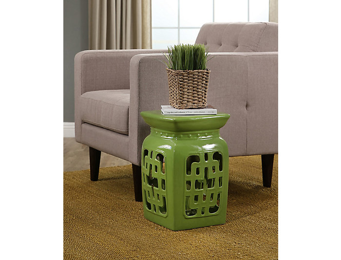Del Laton Lime Garden Stool, , large