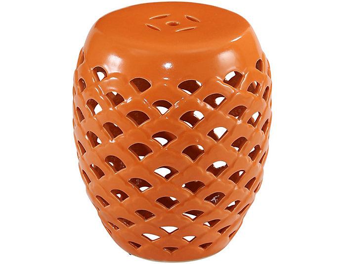 ... El Nido Orange Garden Stool, , Large ...