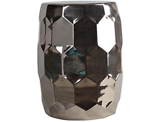 Helm Silver Garden Stool, , large