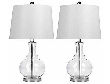 Ellis Clear Lamp Set of 2, , large