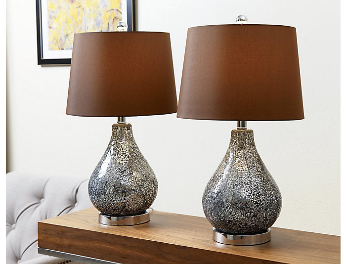 Camille Mosaic Lamp Set of 2, , large