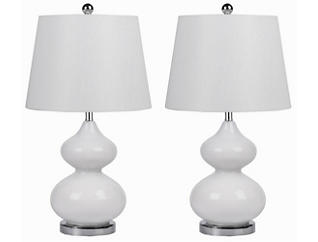 Sophia White Lamp Set of 2, , large