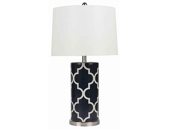 Madison Navy Table Lamp, , large
