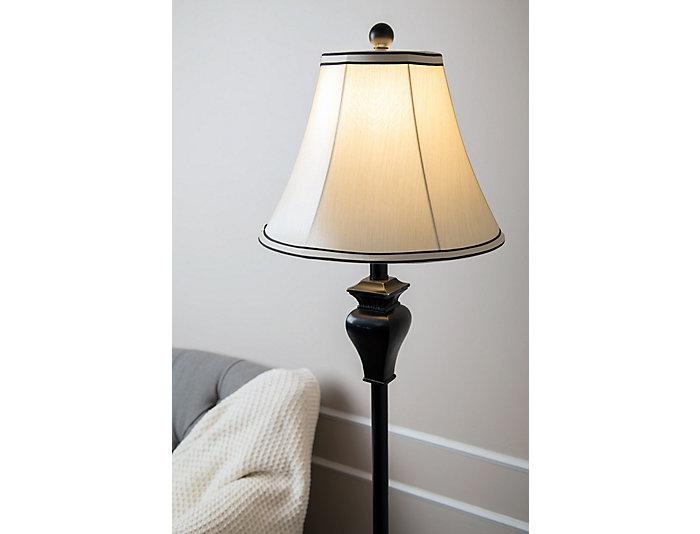 Elena Ebony Floor Lamp, , large