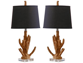 Gold Coral Table Lamp Set of 2, , large