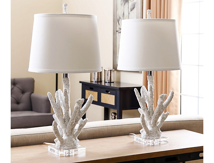 Coral Table Lamp Set of 2, , large
